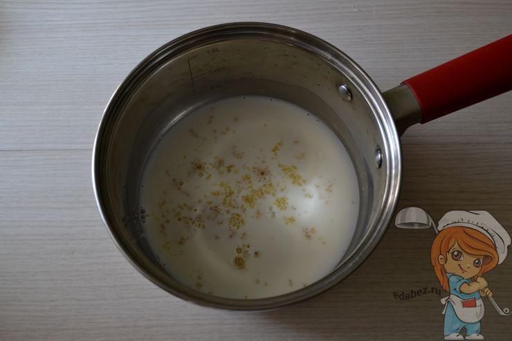 Заливаем желатин в молоко