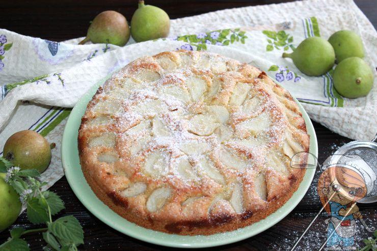 Пирог с грушей в духовке - рецепт с фото