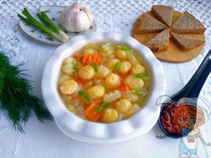 Суп с сырными клецками - пошаговый рецепт с фото