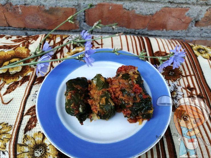 Классический рецепт долмы из свекольных листьев