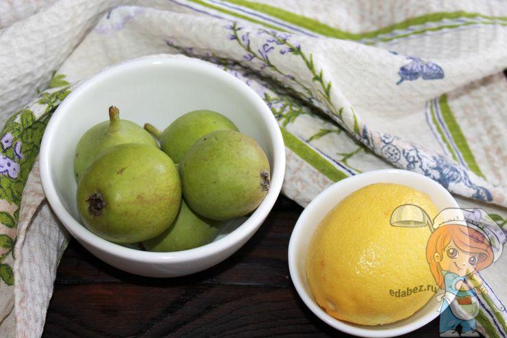 Моем груши и лимон