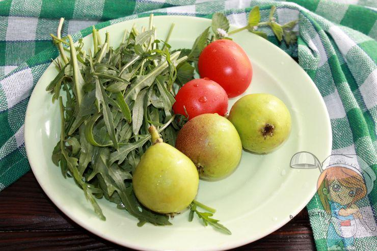 Фрукты и овощи для салата