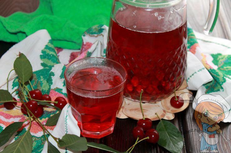 Домашний компот из вишни - пошаговый рецепт с фото
