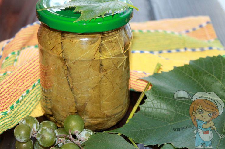 Маринованные листья винограда для долмы