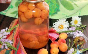 Простой компот из абрикосов на зиму