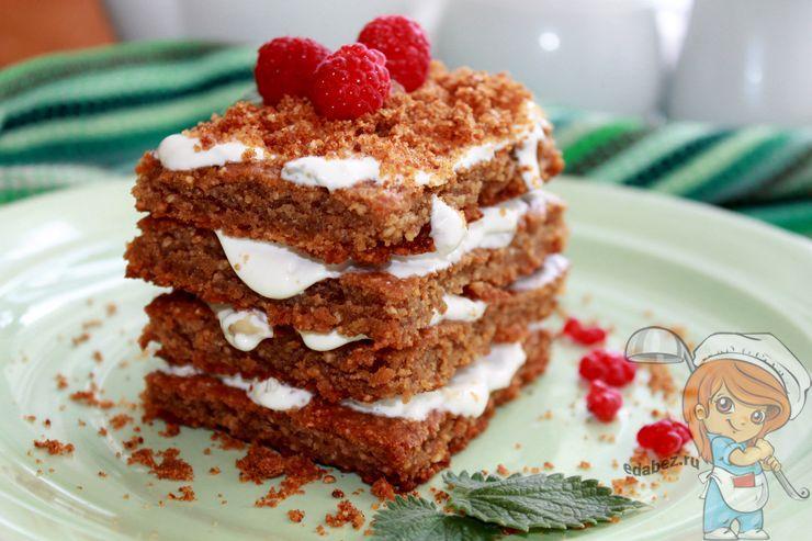 Бисквитный торт медовик - рецепт с фото
