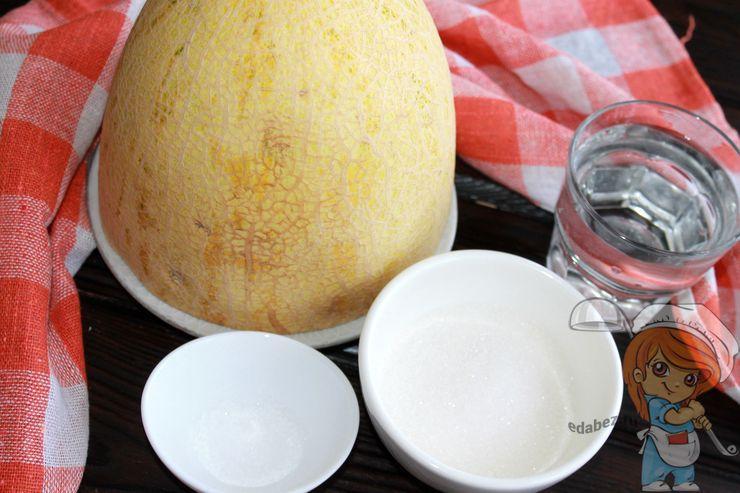 Ингредиенты для заготовки дыни