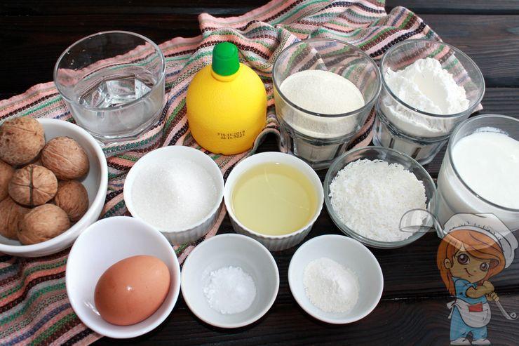 Ингредиенты для приготовления пирога
