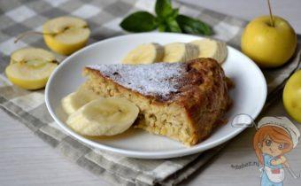 Овсяный пирог с яблоками - рецепт из овсяных хлопьев