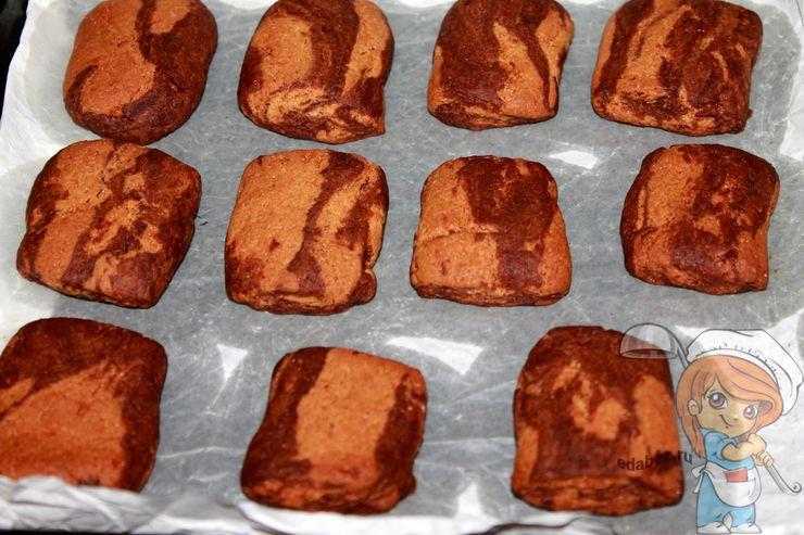 Мраморное печенье, рецепт вегетарианский постный
