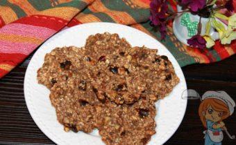Овсяное печенье без муки и без яиц - рецепт с фото