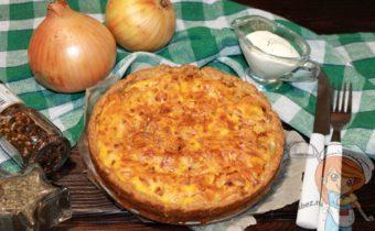 Луковый пирог с сырками