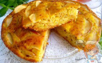Шарлотка с творогом и яблоками - рецепт с фото