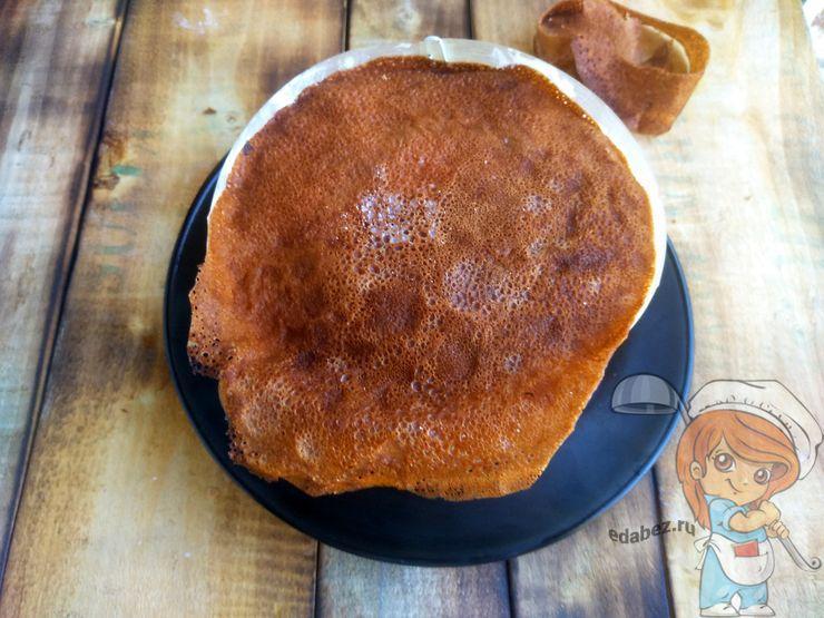 Прикрываем торт блином