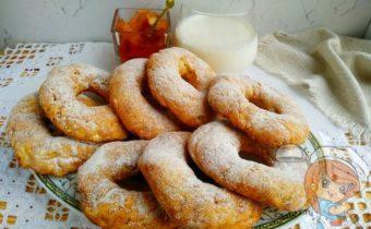 Творожные пончики в духовке без дрожжей - пошаговый рецепт с фото