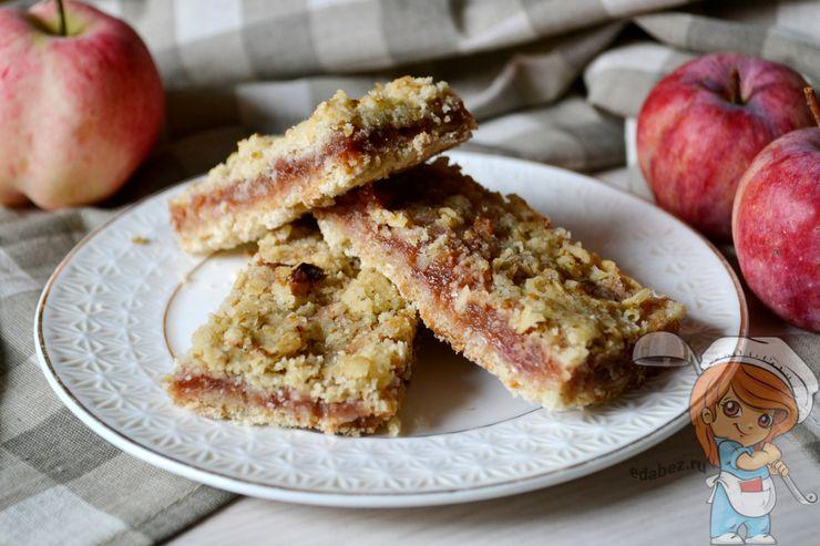 Насыпной пирог с яблоками - пошаговый рецепт
