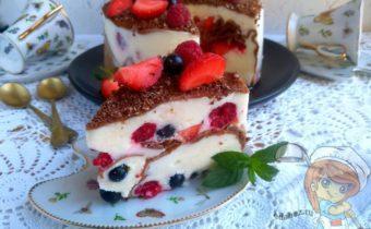 Блинный торт с творожным кремом - пошаговый рецепт