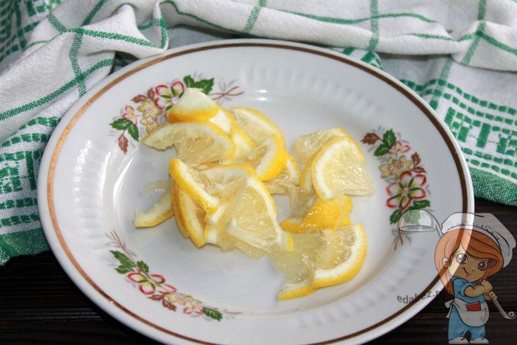 Лимон дольками