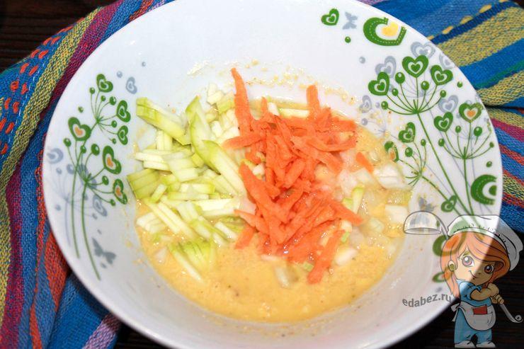 Соединяем овощи с кляром