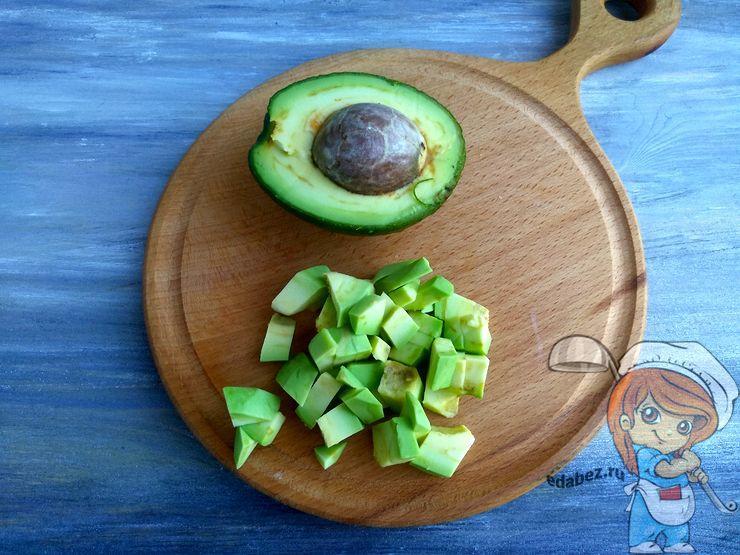 Авокадо кубиками