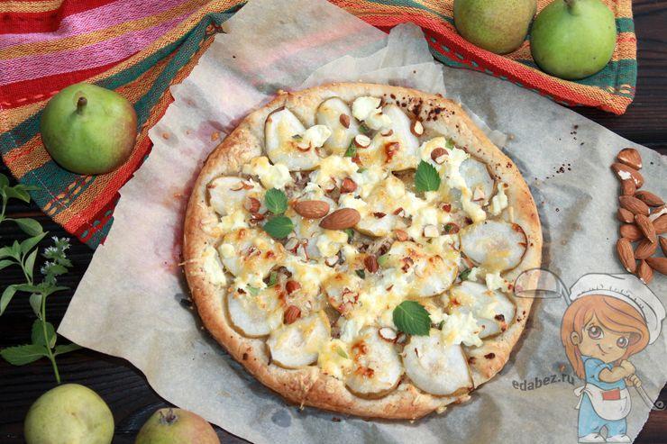 Рецепт сладкой пиццы с грушей