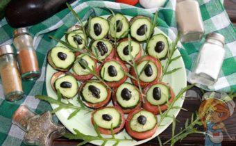 Павлиний хвост из баклажанов - рецепт с фото