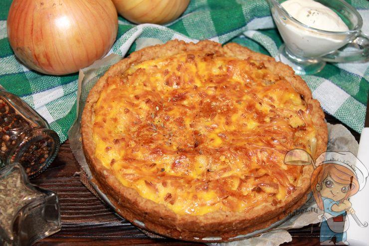 Луковый пирог с плавленными сырками - рецепт пошагово с фото
