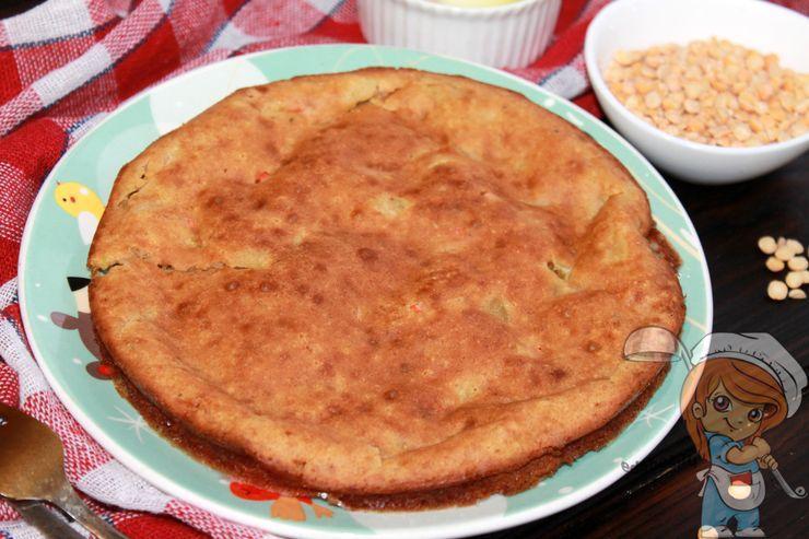 Пирог из гороховой муки, рецепт с фото