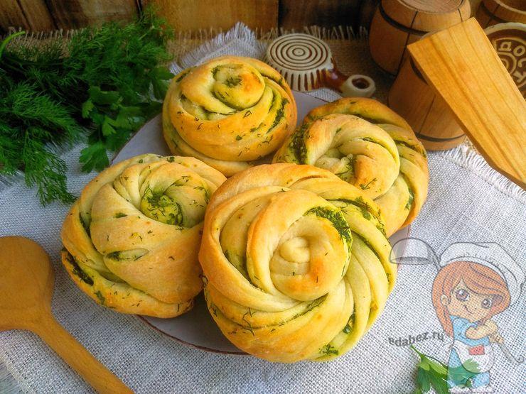 Чесночные булочки в духовке - рецепт с фото