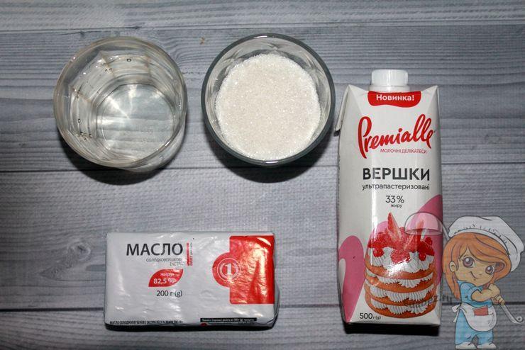 Ингредиенты для мягкой карамели