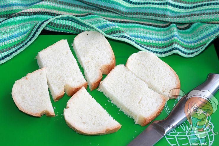 Режем хлеб на ломтики