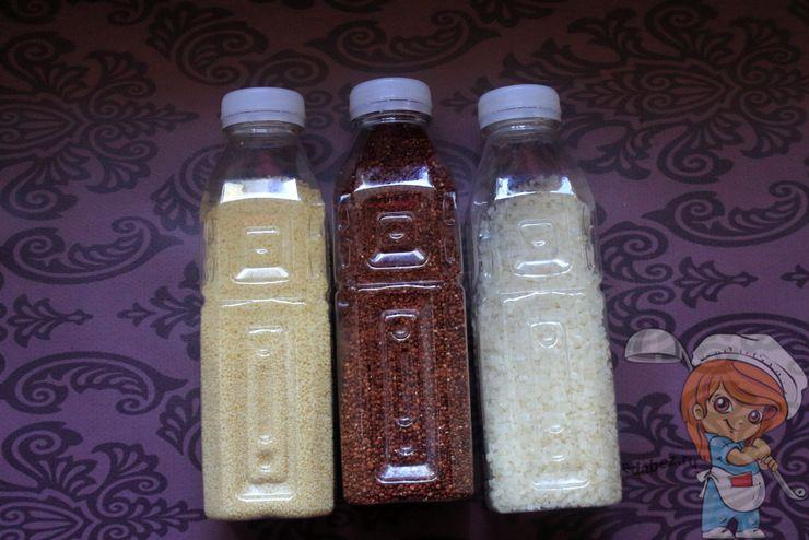 Пластиковые бутылки для хранения круп