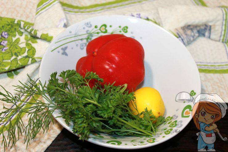 Моем овощи и зелень