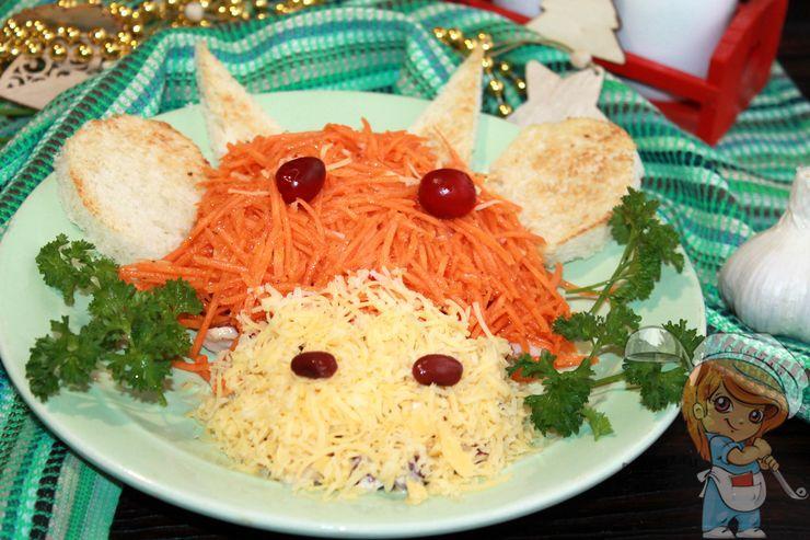 Декорируем салат