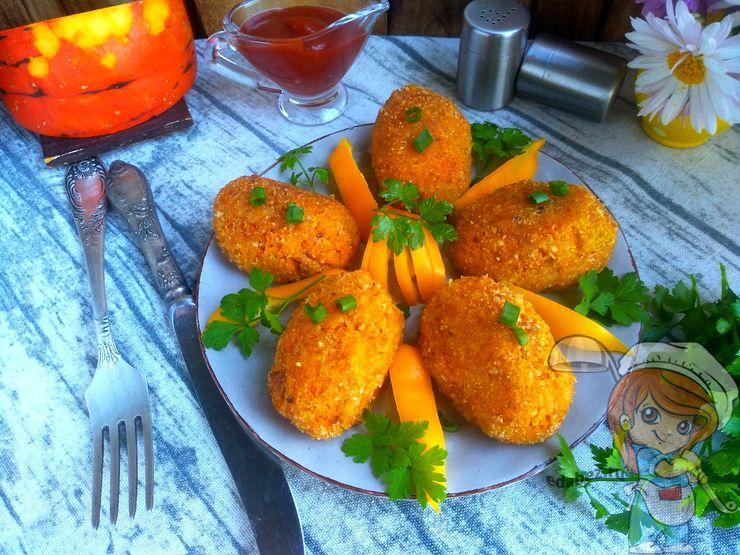 Картофельно-тыквенные котлеты