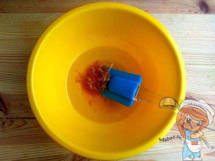 Цедра с растительным маслом