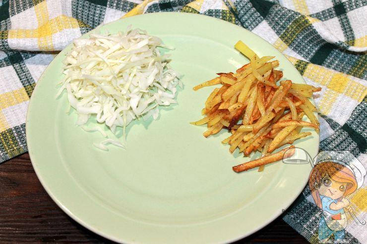 Порция картошки и капусты