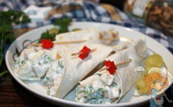 Кулечки из лаваша с сыром - рецепт с фото