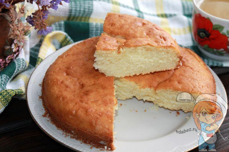 Бисквит на йогурте - рецепт с фото