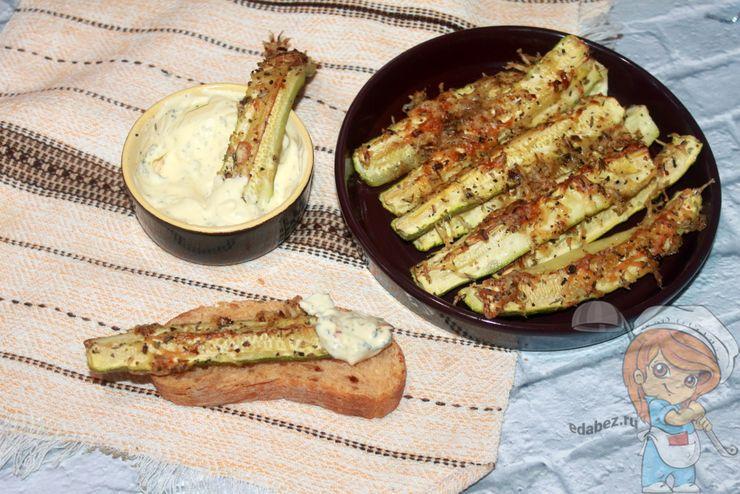 Кабачки с сыром в духовке - рецепт с фото