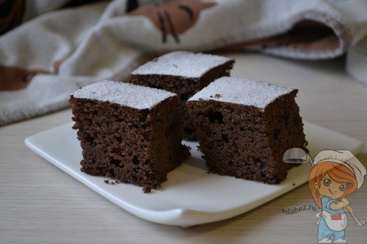 Влажный пирог без муки и молока