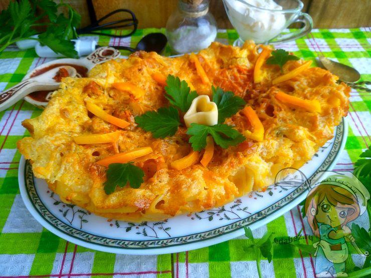 Макаронная запеканка с сыром в духовке