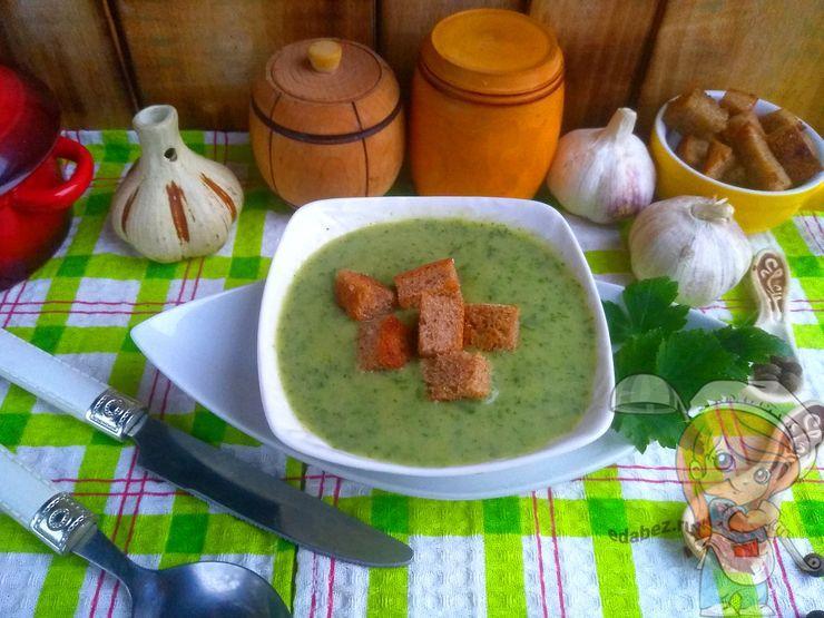 Чесночный суп пюре - рецепт с фото