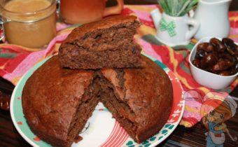 Пирог с финиками - простой рецепт без сахара