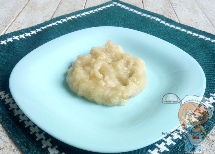 Перетертое печеное яблоко
