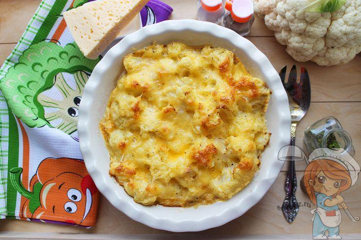Запеканка из цветной капусты в духовке с сыром