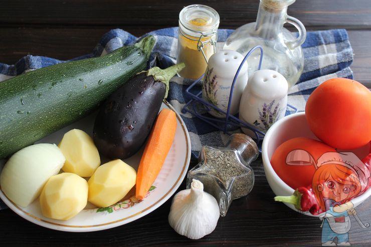 Овощи и ингредиенты