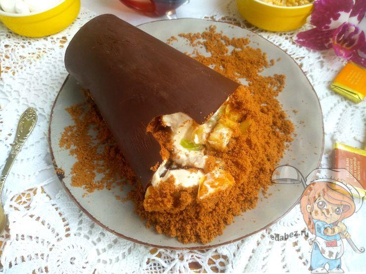 Мамин цветок десерт кококо