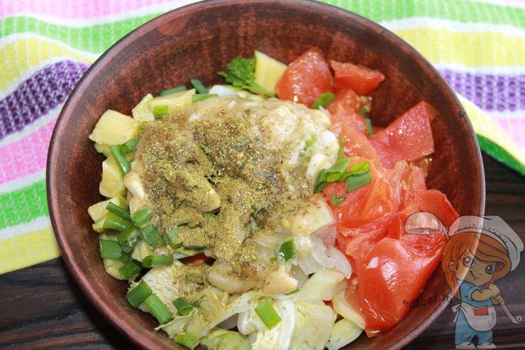 Заправляем салат
