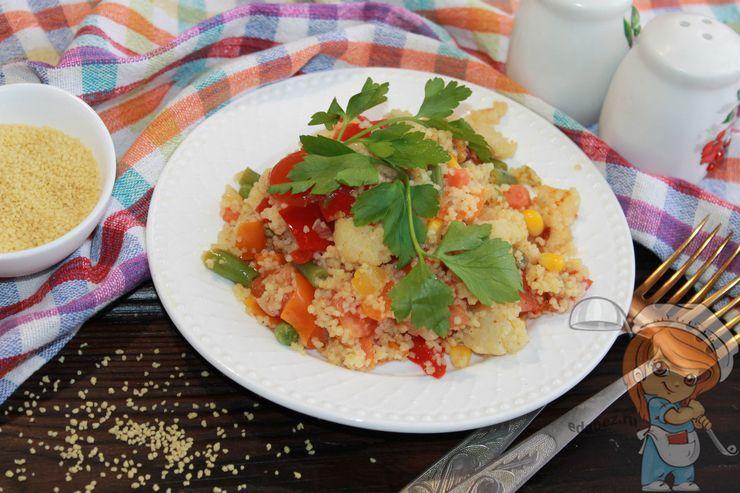 Кус-кус с овощами замороженными и свежими